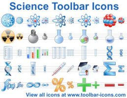 Science Toolbar Icons by mikeconnor7