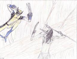 Wolverine Vs. Predator by Demonbane775