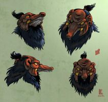 Tengu mask turnaround by ToBuildARocketShip
