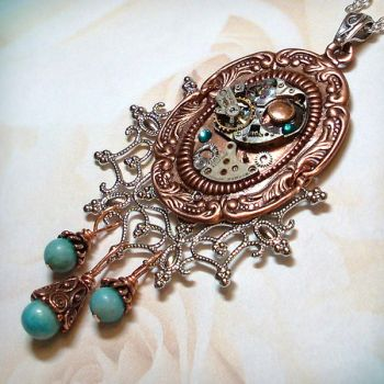 Turquoise Time Drops by Gweyeni