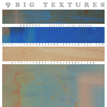 9 big textures - Like Oxygen by yunyunsarang