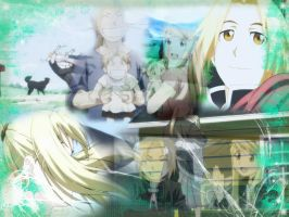 Edward x Winry :: Wallpaper by Chibi-Isse