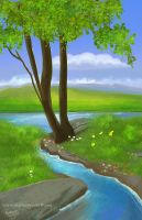 Landscape illustration for my gallery1 by eydii