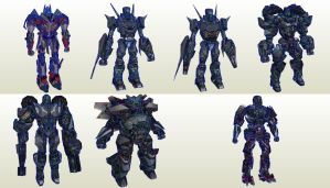 Transformers Battle Game Pack01 by PapercraftKing
