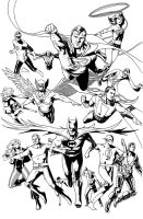 Justice League Classics inked version by benttibisson