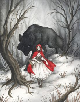 Little Red Riding Hood by Evanira
