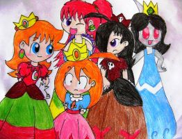 My OC Princess Group Picture by Rotommowtom