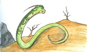 Green Snake by SkyWookiee