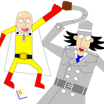 One Punch Man and Inspector Gadget by CreativeCuquiLu