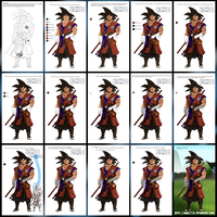 My Color Process (Goku Monk Style) by Amar25x