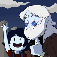 Simon and Marcy thumbs up and hello by Snowflake-owl
