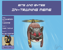 Kitakemon in-training meme by Hellonaut