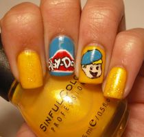 Play-Doh Nail Art by aleidapinon