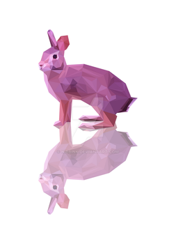 Low Poly Rabbit (Print Now Available) by Nibbink