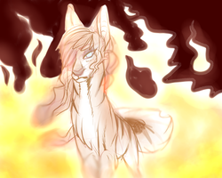 Girl on Fire by CheshireWolf97