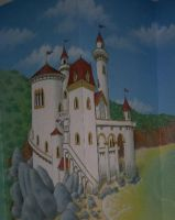 Prince Charming's Castle by MuralsbyLeBold