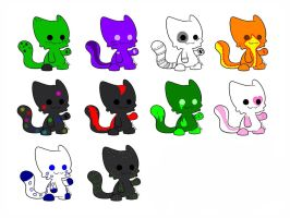 Cat adoptables by tabbykitty123