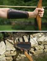 Leather Arm Guard by G-warehouse
