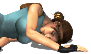 Lara Croft Collapsed 5 by FallenParty