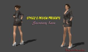 Secretary Lara Croft (Re-Updated 3) by bstylez