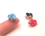 Miniature pink / white and blue unicorns by MiniSweetx