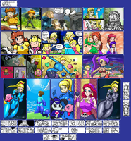 Miiverse Doodles 4  Now In Color   By Gregarlink10 by Ukato-drawings