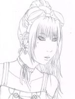Steampunk Girl Sketch by VictoriqueShizuka