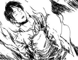 Eren Jaeger Attack on Titan by moondrop1XD
