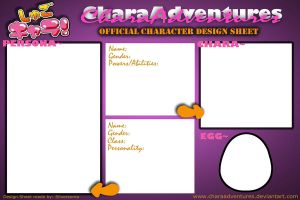 CharaAdventures Official Character Design Sheet by Silversoma