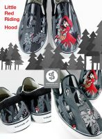 Little Red Riding Hood Slip Ons by Bobsmade