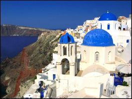 Greece-Postcard from Santorini by AgiVega