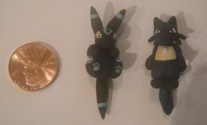 shiny umbreon and lucarioSO by LeluDallas