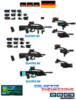 Concept Weapons GLN G52  For SSMU Pixel Art by Luckymarine577
