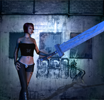 The girl with the sword by WilliamTheConqueror