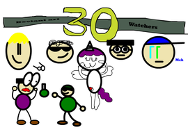 30 watchers in deviant art digital (by aled) by Aled1918