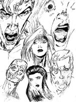 X Men Facial Collage 2 by KwongBee-Arts