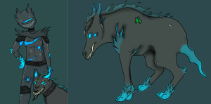 A Web Rider and her Dog + Web canine redesign by Marzi66