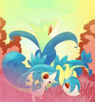 Snivy, Servine and Serperior? by Diatmi