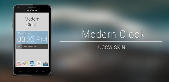 Modern clock uccw skin by AlexJMiller