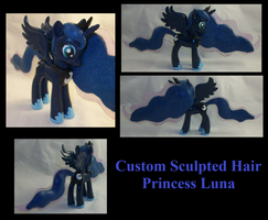 Sculpted Hair Princess Luna by Gryphyn-Bloodheart