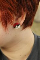 Pokeball Stud Earrings! by Kaijere
