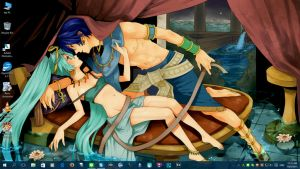 Kaito x Miku Ancient Egypt Desktop - Windows 10 by PharaohAtisLioness