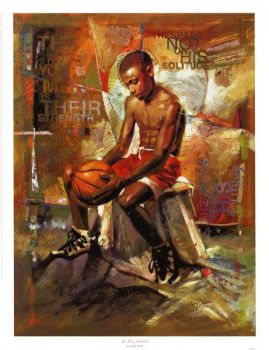 The African Basketball Player. by Mrbaid3n