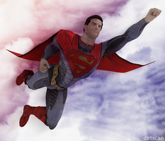 Superman flying by dirtscan