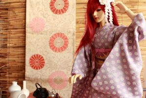 BJD kimono, I'm in a Rush by InarisansCrafts
