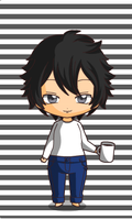 chibi L lawliet by queenlisa