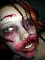 ZombieFest Makeup and homemade facepaint! :D by BlackDemonFang