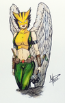 Hawkgirl color by mpazin