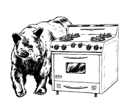 Bear and Oven by mlauritano