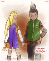 ShikaIno - Happy Birthday by MajorasMasks